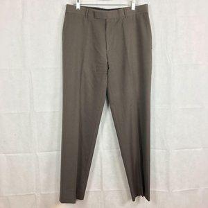 Hugo Boss James Brown Mid Gray Dress Pants Sz 34